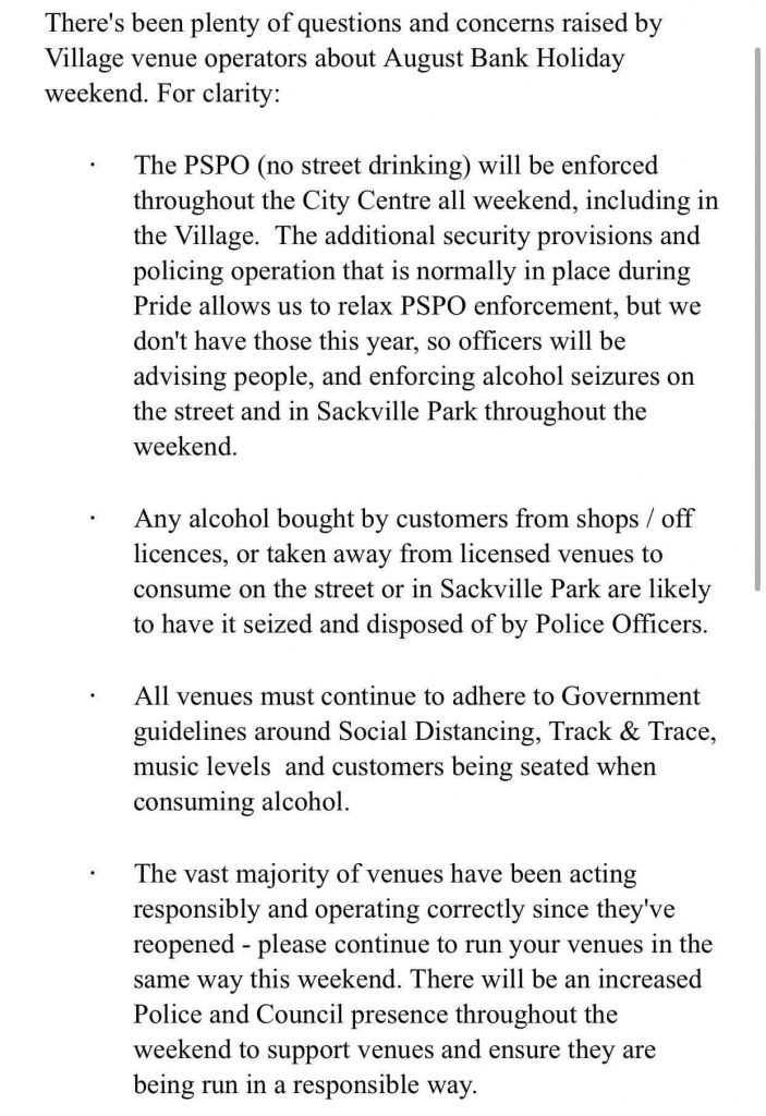 Pride police warning to the Village p Page 1